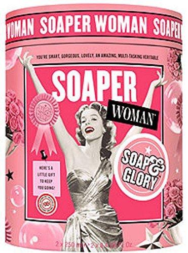 Soap & Glory Soaper Woman 3 Pc. Gift Set - Body Lotion, Body Wash, Shower Puff ()
