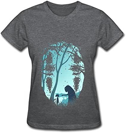 Tea Time Women's Tshirt Pop No Face Male Dark Forest Black