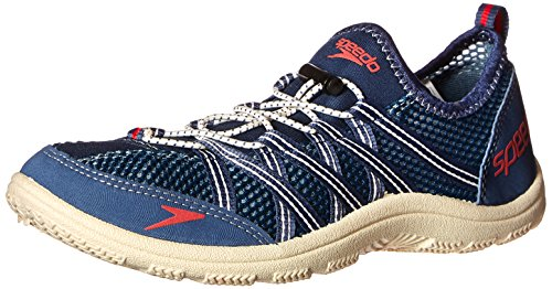 Speedo Men's Seaside Lace 4.0 Water Shoe, Blue/White, 12 M US