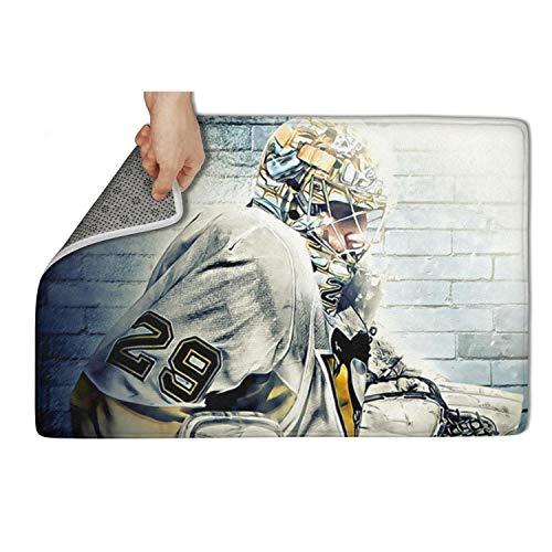 Eoyles Ice Hockey Basketball Player Bathroom Spring Inside Rugs Non Slip 31