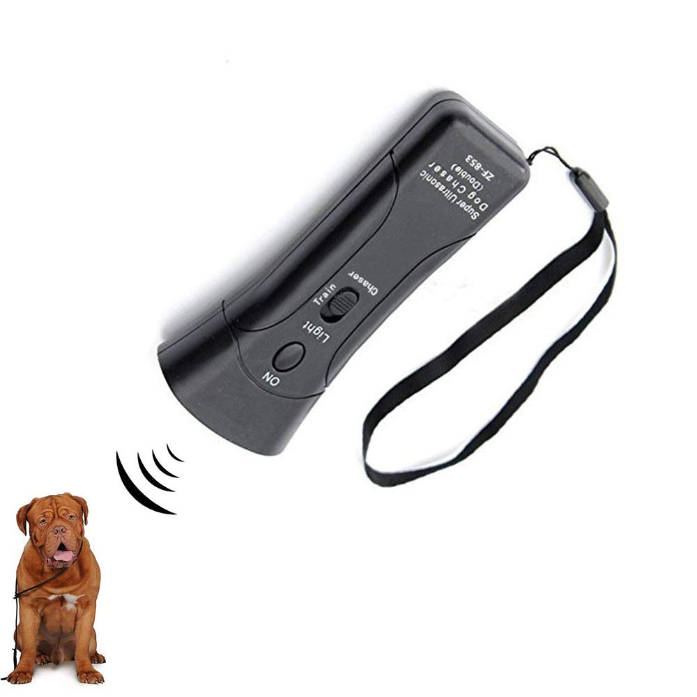 Cheerpet LED Ultrasonic Dog Repeller & Trainer Device 3 in 1 Anti Barking Stop Bark Handheld Dog Training Device by Cheerpet
