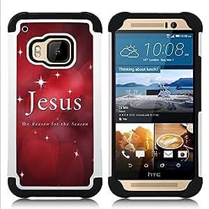 - Jesus stars Christmas faith red quote - - Doble capa caja de la armadura Defender FOR HTC ONE M9 RetroCandy