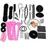 (US) eshion® Hair Design Styling Accessory Maker Pads Hairpins Clip Donut Tool Kit