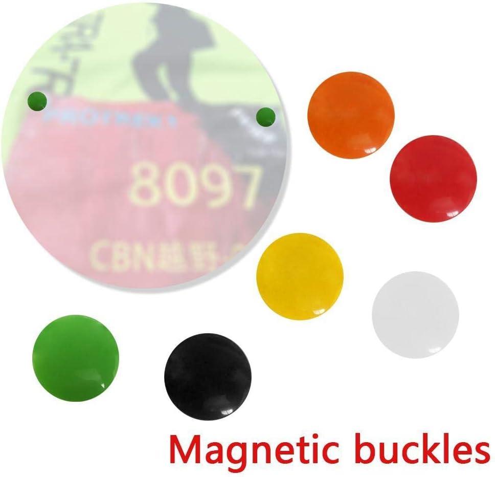 Magnetic 4pc Race Bib Holders Running Fix Clips Number Card Buckle Marathon Race