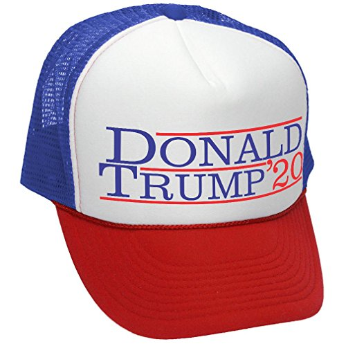 Donald Trump 2020 - Vote Trump President - Adult Trucker Cap Hat, RWB