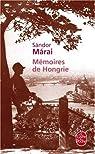 Mémoires de Hongrie par Márai