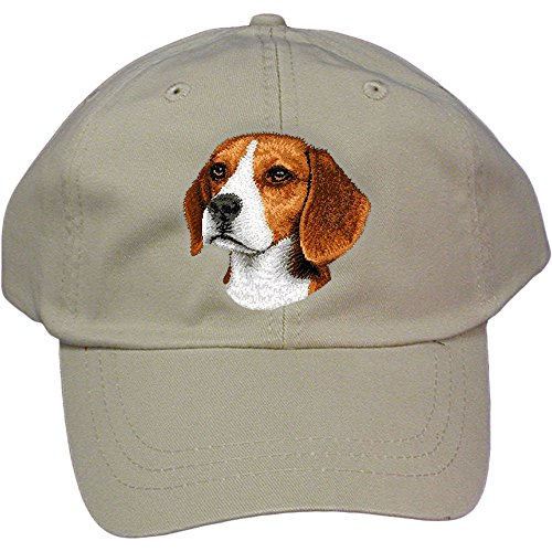 Cherrybrook Dog Breed Embroidered Adams Cotton Twill Caps - Stone - Beagle