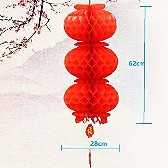 4 sets waterproof string 3 honeycomb red plastic oil paper lantern 4 sets waterproof string 3 honeycomb red plastic oil paper lantern bright chinese wedding decoration festival junglespirit Images