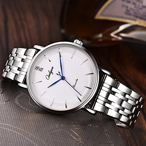 ONLYOU Womens Watches Business Casual Fashion Wrist Watch,Luxury Analog Quartz Wristwatches Stainless Steel Band Watch for Women