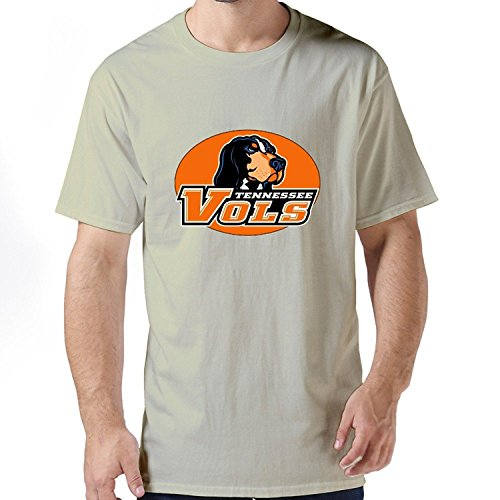 Mens Classic 100% Cotton Tennessee Volunteers Logo T Shirt Size L Color Red