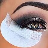 100pcs Pro Cotton Eyeliner Shield Eyeshadow Shields Under Eye Patches Disposable Eyelash Extensions Pads Protect Pad Makeup Tool