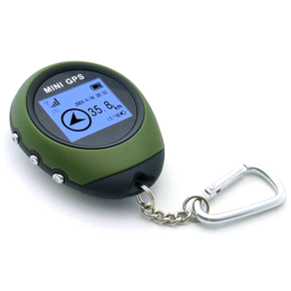 VORCOOL Mini Handheld GPS Receiver Tracker and Location Finder with Keychain USB Rechargeable for Outdoor Sports Travel Cycling