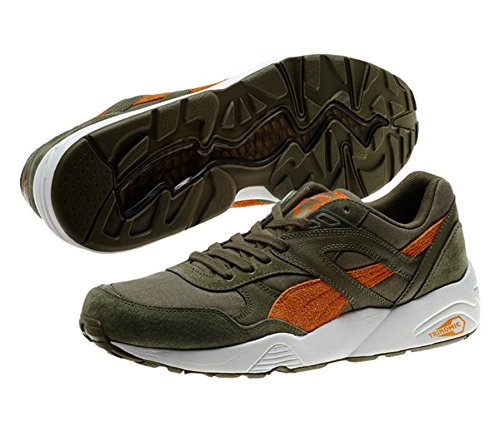 PUMA 358016 Mens Trinomic R698 Street Shoes, Burnt Olive/Russet Orange - 6.5 (Olive Russet)