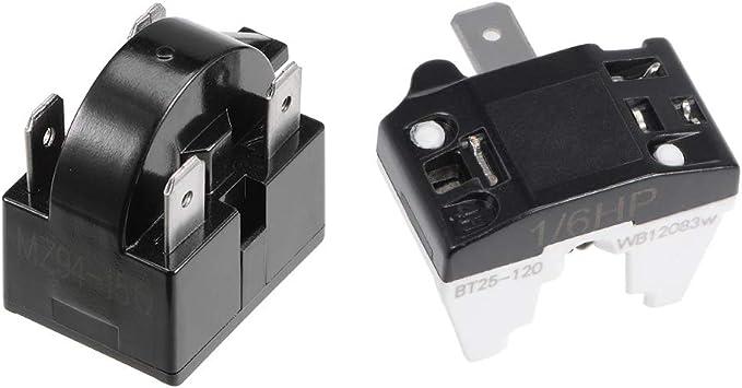 Relais de démarrage réfrigérateur 1 broches PTC 4,7 Ohm pour compresseur