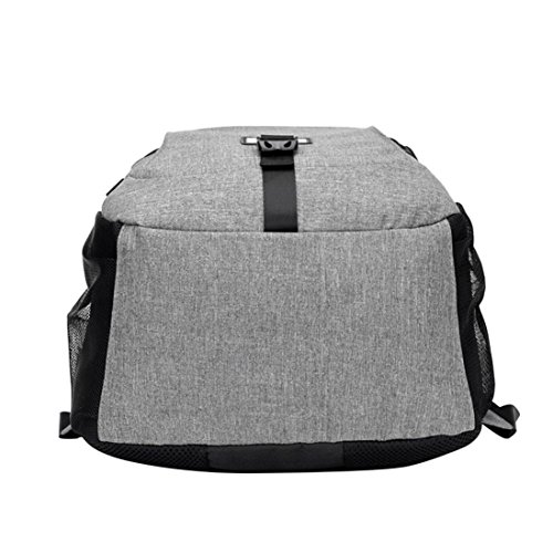 Multifunction Backpack For Gray Oxford Charging Color solid School Travel Backpack College Male Yuan Simple Rucksack Men Usb Camping wFCppq