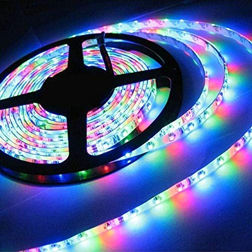 Grace Waterproof Wireless Remote Led Strip RGB with 24Key Remote and 2A Adapter (Multicolour, 2835-54L) 6 Months…