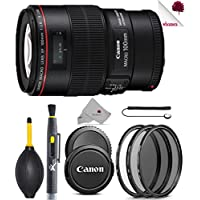 Canon EF 100mm f/2.8L Macro IS USM Lens (3554B002) USA - Full Accessory Basic Lens Bundle Package Deal