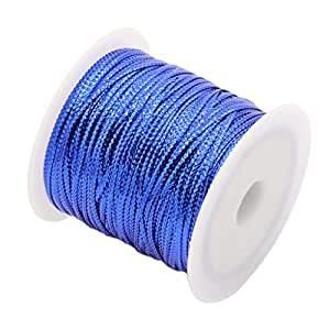 Prettyia Multifunctional Ribbon Silk Ribbon Crafts Wires Cords Strings Colored - Blue, as described