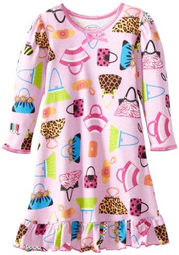 Sara's Prints Girls 7-16 Puffed Sleeve Nightgown