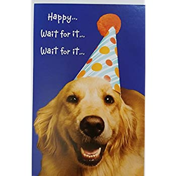 Amazon happy wait for it birthday greeting card w birthday greeting card w golden m4hsunfo