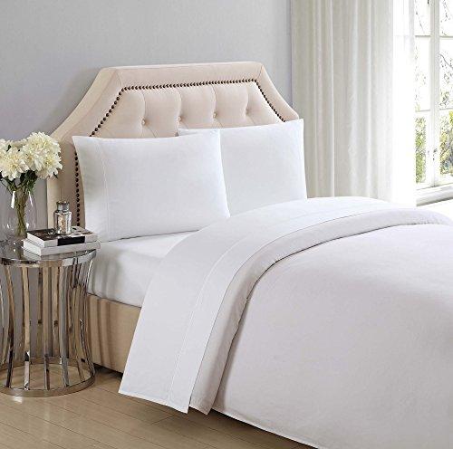 Costco Charisma Sheets White: Charisma 310 Thread Count Classic Solid Cotton Sateen