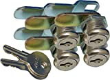 Prime Products 18-3319 1-1/8' Keyed Camlock- Pack of 4