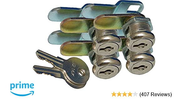 Pack of 4 Prime Products 18-3319 1-1//8 Keyed Camlock