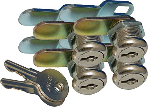 "Prime Products 18-3319 1-1/8"" Keyed Camlock- Pack of 4"