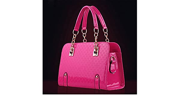 KDHJJOLY Practical Handbags Women Famous Brands Black Bag Pochette Soiree Woman Shoulder Bag Tote bag Hot Pink Chic: Handbags: Amazon.com