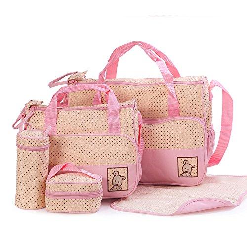 ansan-5-in-1-5-pcs-baby-changing-diaper-nappy-bag-tote-mummy-mother-multifunctional-handbag-mummy-pa