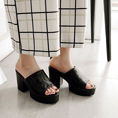 Mules Melady Forme Black Sandales Plate Femmes Talons ttqxwRag