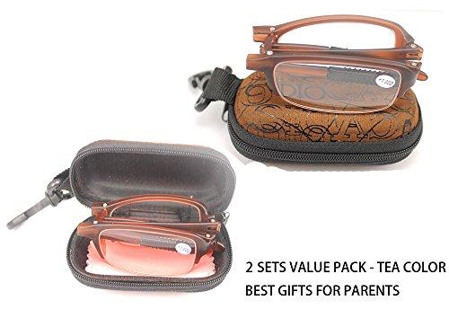 soolala-2-pairs-tea-mini-tr90-folding-reading-glasses-with-clip-holder-zipper-case-7-strengths-30d