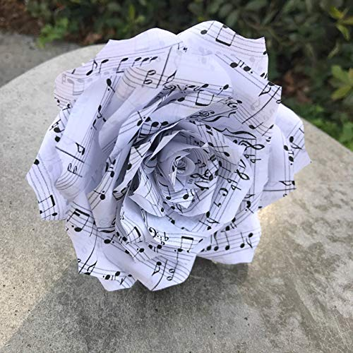 Music Note Paper Rose -