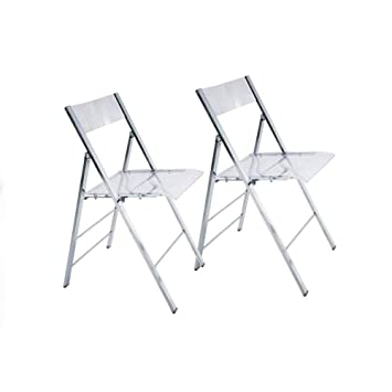 Inside Juego de 2 sillas Plegables Seal Transparentes y ...