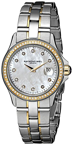 Raymond Weil Women's 9460-SGS-97081 Diamond-Accented Watch with Link Bracelet