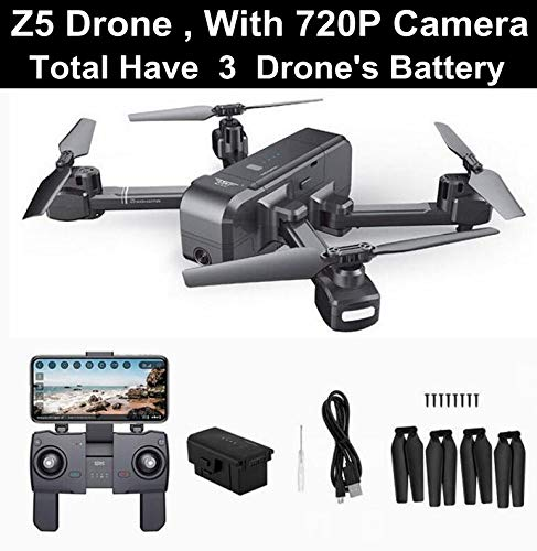 Generic SJRC Z5 Drone with Camera 1080P GPS Drone 2.4G 5G WiFi FPV Altitude Hold Quadrocopter Follow Me RC Quadcopter vs E58 X12 XS812 Z5 720P 3 Battery