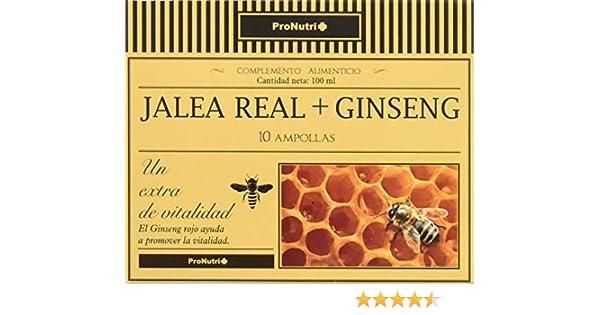 PRONUTRI Jalea Real con Ginseng 10 ampollas: Amazon.es: Salud y cuidado personal