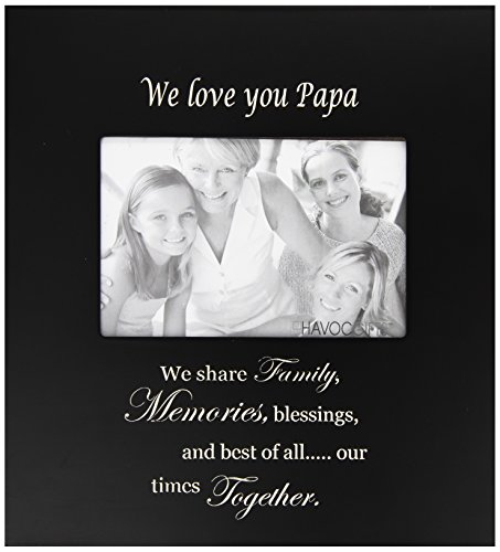 Infusion Gifts 9026-LB We Love You Papa with Verse Photo Frame, Large, Black by Infusion Gifts