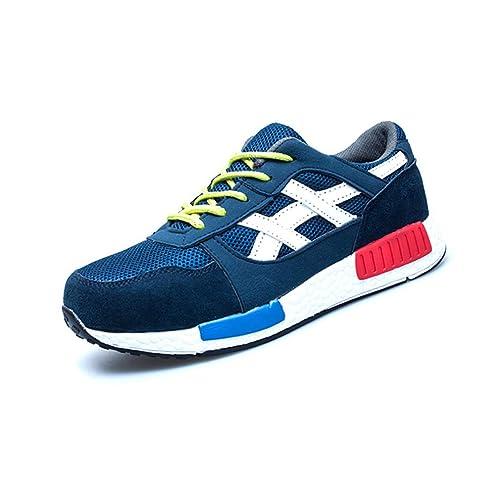 hibote Zapatillas de Seguridad para Hombre Ligeras S3 Calzado de Trabajo para Comodas: Amazon.es: Zapatos y complementos