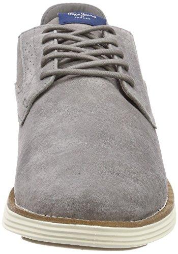 Pepe Jeans London Herren Derry Suede Oxfords Grau (Grey)