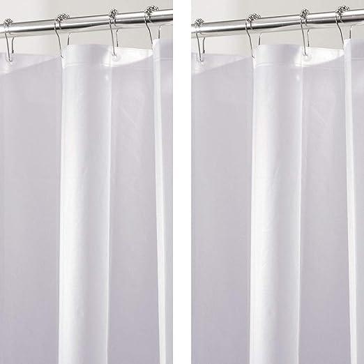 mDesign Juego de 2 cortinas para baño de PEVA – Cortinas de baño ...