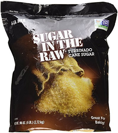 Sugar in the Raw 6 lbs bag (Pack of (Natural Turbinado Sugar)