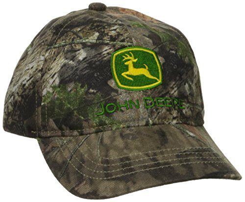 John Deere Boys' Trademark Baseball Cap, Mossy Oak Breakup/Country, - Youth Camo Adjustable Cap