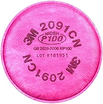 Particulate Filter Compatible with 2097 P100 Installed on 6000 7000 FF-4 Filter Retainer Use 1Pairs 4.3 Inch 2PCS