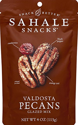 Sahale Snacks Valdosta Pecans Glazed Mix, 4 oz., Pack of 1 - Nut Snacks in a Resealable Pouch, No Artificial Flavors, Preservatives or Colors, Gluten-Free Snacks