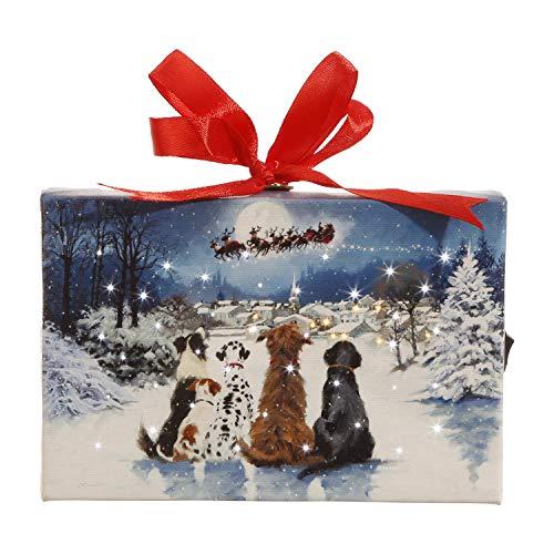 - RAZ Imports Dogs Watching Santa Ornament