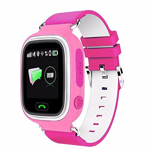 PAIWEISZ Q90 Kids Smart Watch WiFi GPS lbs Phone Positioning Fashion Children Watch 1.22 inch Color Touch Screen Anti-Lost Monitor SOS SmartWatch Baby