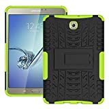 DWay Tab S2 8.0 Case T710 Armor Hybrid Design with Stand Feature Detachable Dual Layer Protective Shell Hard Tablet Back Case Cover for Samsung Galaxy Tab S2 8.0inches SM-T710 / T715 (Green)