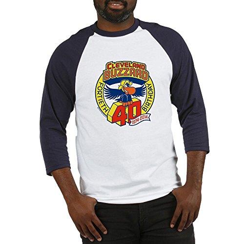 - CafePress Cleveland Buzzard 40Th Birthday Cotton Baseball Jersey, 3/4 Raglan Sleeve Shirt Blue/White