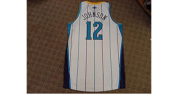 new concept e4bb3 d7cb0 Trey Johnson New Orleans Hornets 2011-2012 Home Game Worn ...
